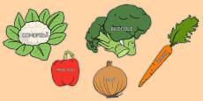 Vegetable Words on Vegetables Romanian
