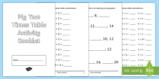 Two Times Table Activity Booklet