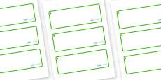 Ash Tree Themed Editable Drawer-Peg-Name Labels (Blank)