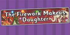 The Firework Maker's Daughter Display Banner