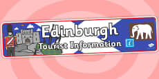 Edinburgh Tourist Information Role Play Banner