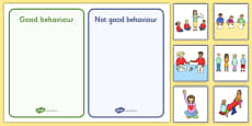 Classroom Behaviour Sorting and Discussion Cards