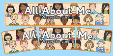 All About Me Banner Polish Translation