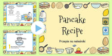 Pancake Recipe PowerPoint Polish Translation