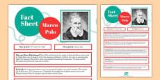 Marco Polo Fact Sheet