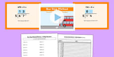 Formal Division 3 Digit Numbers Bus Stop Method Pack