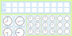 Visual Timetable Display With Clocks