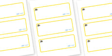 Bee Themed Editable Drawer-Peg-Name Labels (Blank)