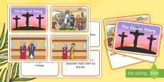 Easter Story Matching Sequencing Cards