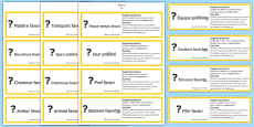 GCSE Français Poser des questions (Favori) Jeu de cartes