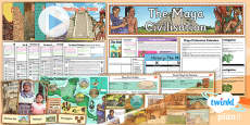 PlanIt - History UKS2 - The Maya Civilisation Unit Pack