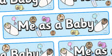 Me As A Baby Dispay Banner