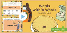 * NEW * Words within Words Game Pancake Day PowerPoint