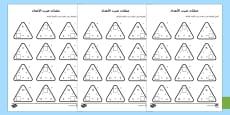 تمارين مثلثات ضرب الأعداد