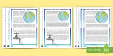 World Water Day 2017 Differentiated Reading Comprehension Activity