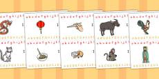 Australia - Chinese New Year Alphabet Strips