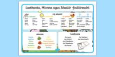 Days, Months and Seasons Word Mat Gaeilge