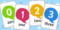 Number Flash Cards 0-30