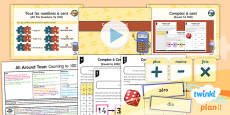 PlanIt - French Year 4 - All Around Town Lesson 4: Counting to 100 Lesson Pack