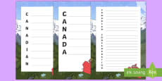 Canadian Confederation Acrostic Poem