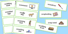 Three Syllable SCR Word Cards