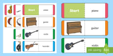 Musical Instruments Card Game