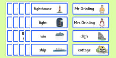 Word Cards to Support Teaching on The Lighthouse Keeper's Lunch