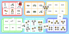 Toy Shop Bingo Up to 5 Dollars Activity Pack