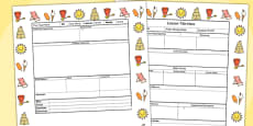 Seaside Themed Editable Individual Lesson Plan Template