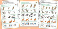 The Town Mouse and the Country Mouse Size Matching Activity Sheets