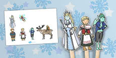 The Snow Queen Stick Puppets