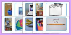 School Objects Photo Pack Urdu Translation