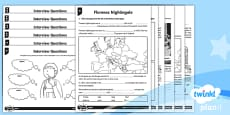 PlanIt Y2 Significant Individuals:  Florence Nightingale Home Learning Tasks