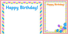 2nd Birthday Party Editable Poster
