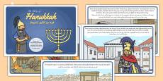 The Story of Hanukkah Arabic Translation