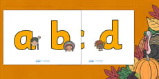 Thanksgiving Display Lettering