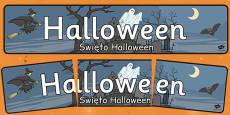 Halloween Display Banner Polish Translation