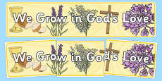 We Grow In God's Love Display Banner