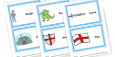 Knights and Castles Word Cards