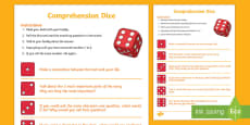 * NEW * Reading Comprehension Dice Game