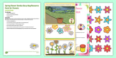 Spring Flower Garden Busy Bag Resource Pack for Parents