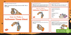 Halloween Tissue Ghost Craft Instructions