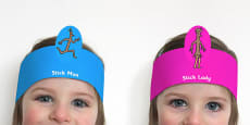 Role Play Headbands to Support Teaching on Stick Man