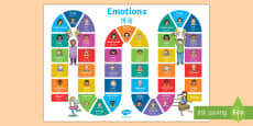 * NEW * Emotions Board Game English/Mandarin Chinese