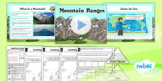 PlanIt - Geography Year 5 - Magnificent Mountains Lesson 1: Mountain Ranges Lesson Pack
