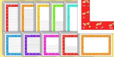 Editable British Sign Language Alphabet Page Borders Pack
