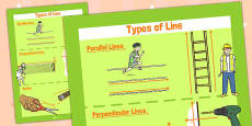 Parallel and Perpendicular Lines Poster