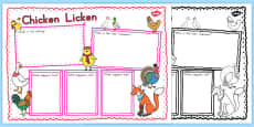 Australia - Chicken Licken Book Review Writing Frame