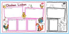 Australia - Chicken Licken Book Review Writing Frame