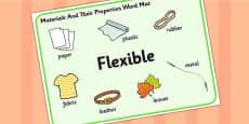 Materials And Their Properties Flexible Materials Word Mat